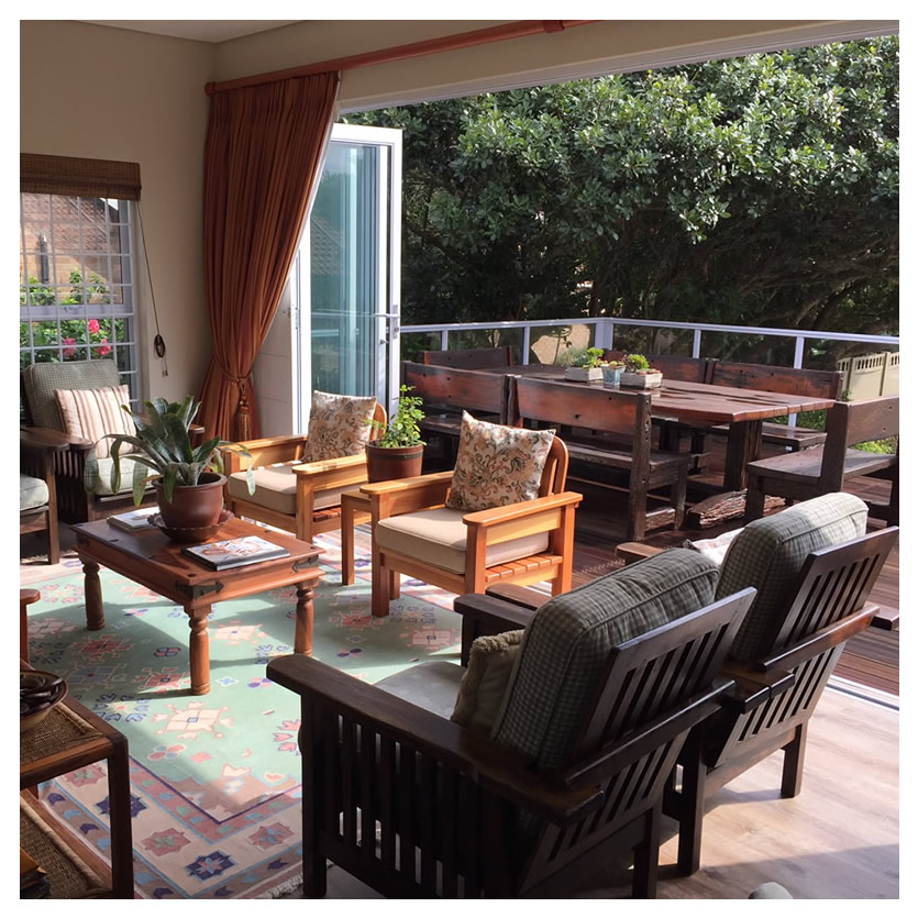 Western sun seating and outdoor deck