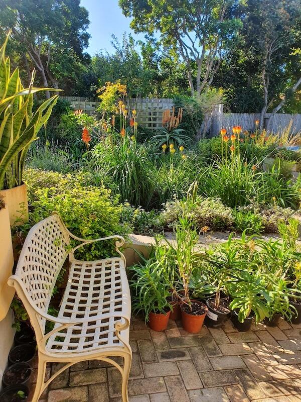 Garden bench at Hillscapes