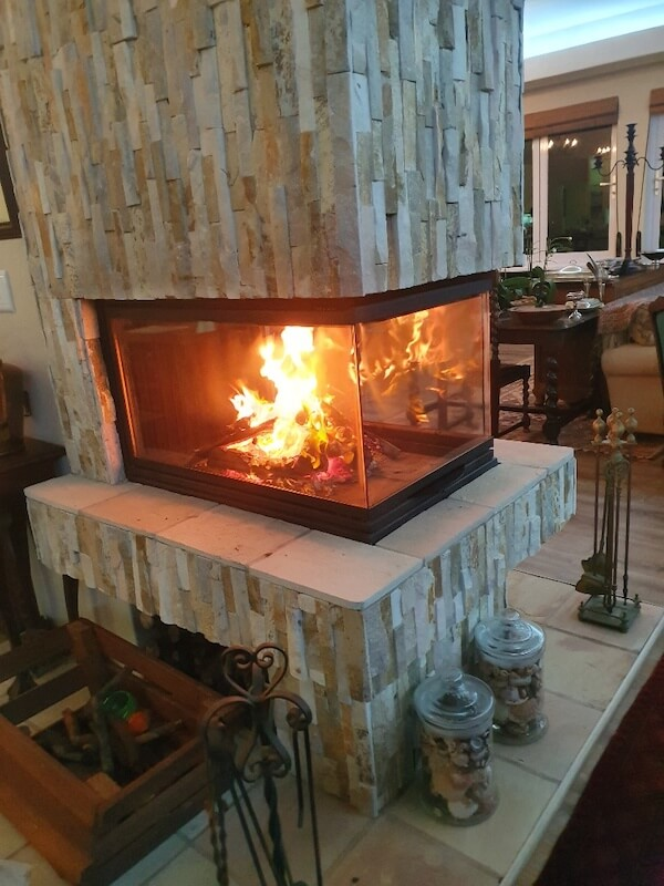 Fireplace at Hillscapes
