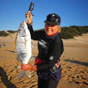 Jo-Anne Hilliar fishing